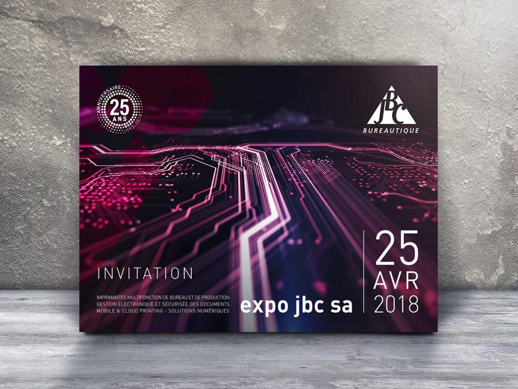 Invitation-flyer pour JBC Bureautique