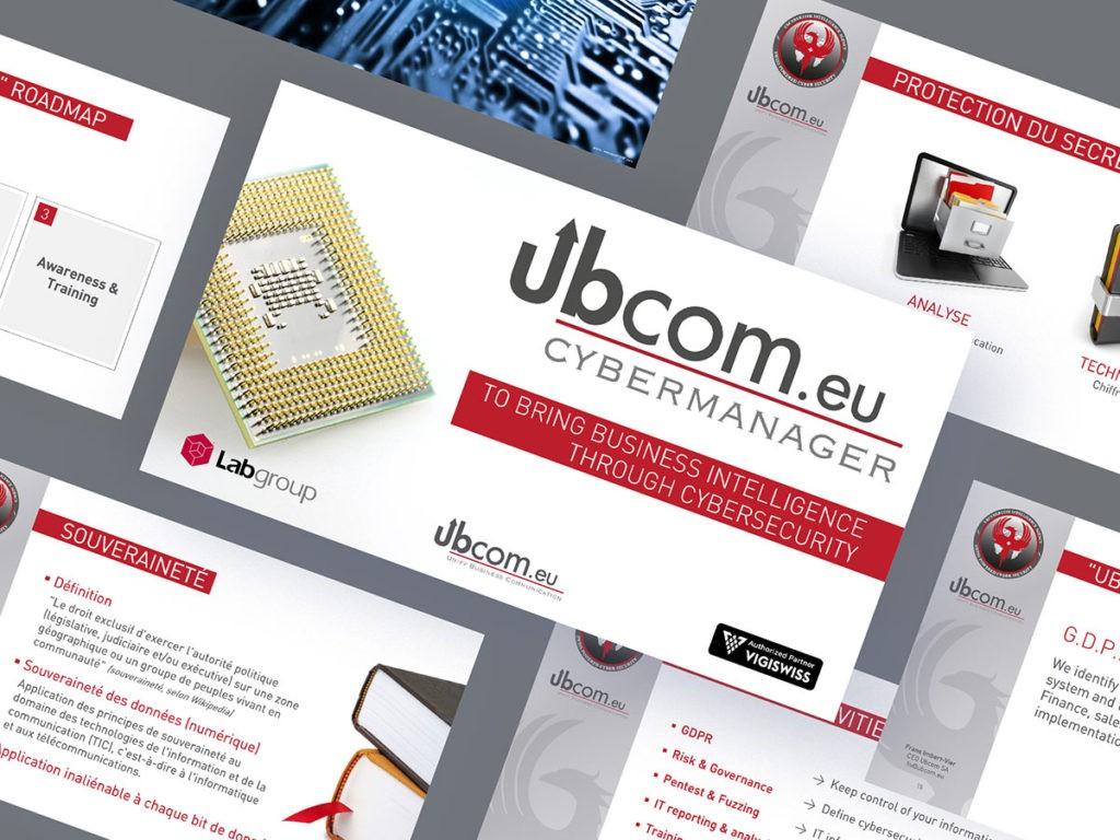 Relookage d'une présentation PPT de Ubcom SA
