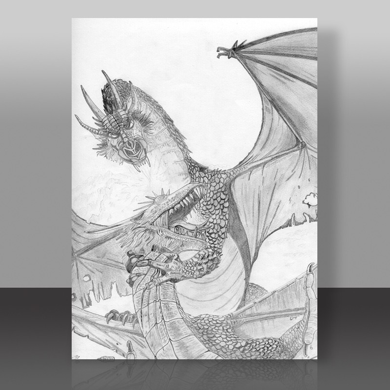 Reproduction au crayon gris d'un dessin d'Elmore