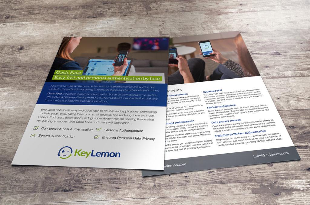 Flyer pour la startup KeyLemon