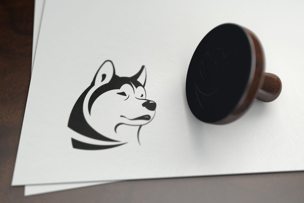 Illustration vectorielle d'un husky pour un logo