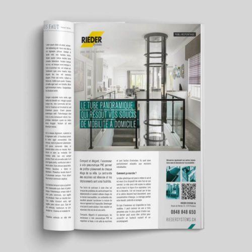 Publireportage pour Rieder Systems paru dans le magazine Propriété