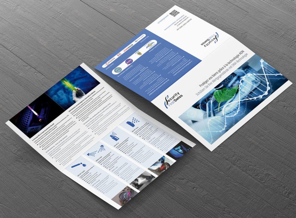 Plaquette d'entreprise pour Security First Swiss